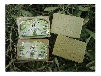 Olivové mýdlo Aloe Vera Knossos 100g