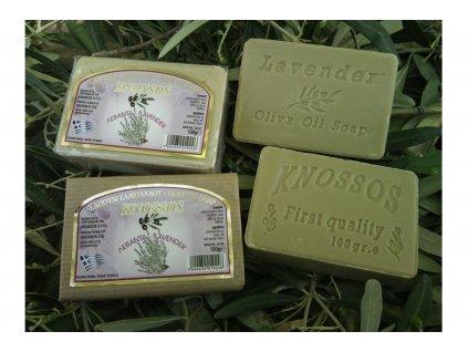Olivové mýdlo levandule Knossos 100g