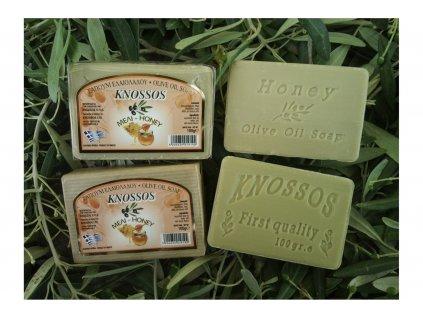 Olivové mýdlo med Knossos 100g
