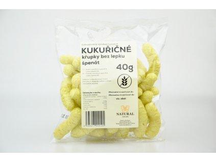 Křupky kukuřičné špenát Natural 40g