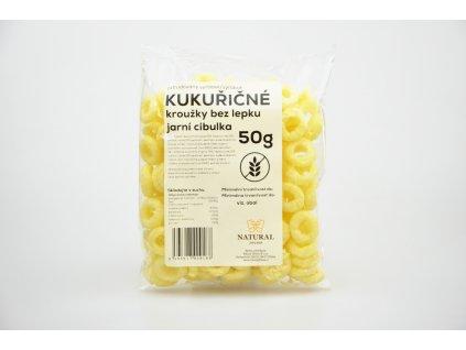 Kukuřičné kroužky jarní cibulka Natural 50g
