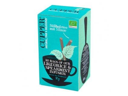 Čaj Liquorice & Spearmint Infusion 30 g BIO CUPPER