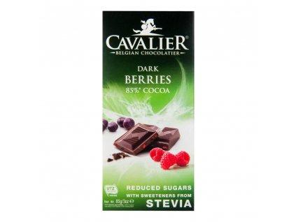 CAVALIER Čokoláda hořká lesní směs se sladidly 85 g