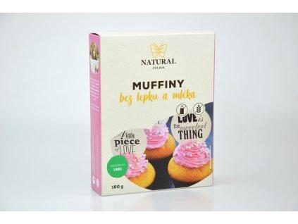 Muffiny s kokosovou moukou bez lepku a mléka Natural 180g