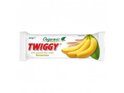 EKOFRUKT Tyčinka Twiggy müsli s banány BIO 20 g