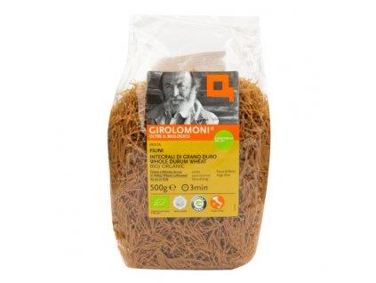 GIROLOMONI Těstoviny filini celozrnné semolinové BIO 500 g