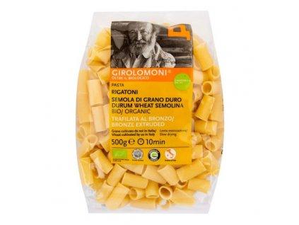 GIROLOMONI Těstoviny rigatoni semolinové BIO 500 g