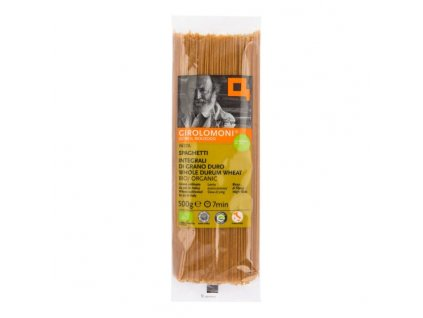 GIROLOMONI Těstoviny špagety celozrnné semolinové BIO 500 g
