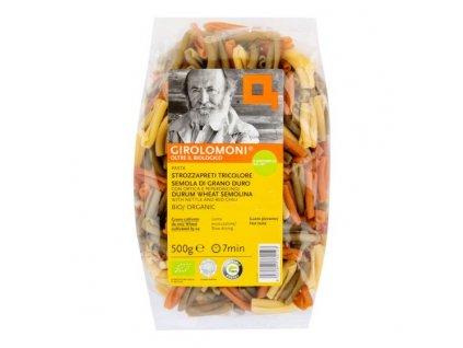 GIROLOMONI Těstoviny strozzapreti semolinové mix BIO 500 g