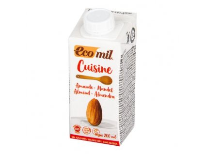 ECOMIL Mandlová alternativa smetany nature 9 % tuku BIO 200 ml