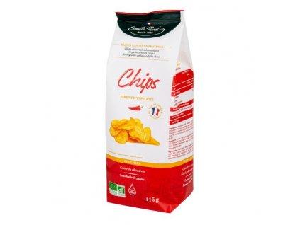 EMILE NOËL Chipsy bramborové pálivá paprika BIO 115 g