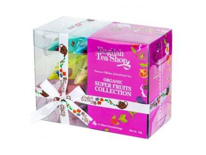 ENGLISH TEA SHOP Čaj Super ovocný 12 pyramidek 4 příchutě BIO