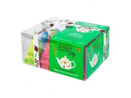 ENGLISH TEA SHOP Čaj Zelený 12 pyramidek 4 příchutě BIO