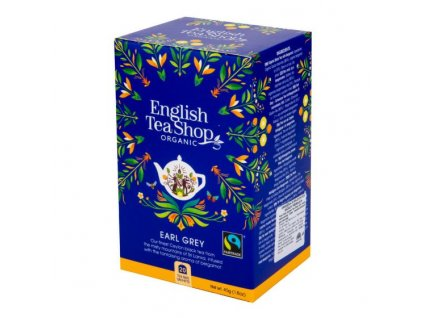 ENGLISH TEA SHOP Čaj Earl Grey Fair Trade 20 sáčků BIO