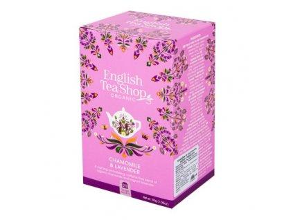 ENGLISH TEA SHOP Čaj Heřmánek a levandule 20 sáčků BIO