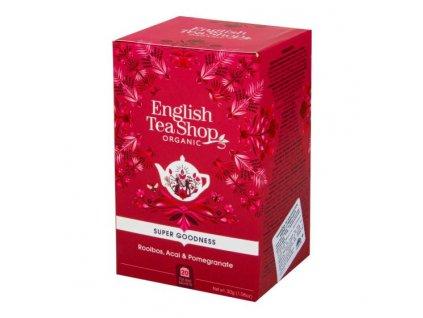 ENGLISH TEA SHOP Čaj Rooibos s acai a granátovým jablkem 20 sáčků BIO