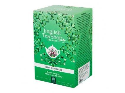 ENGLISH TEA SHOP Čaj Sencha, Bílý čaj a Matcha 20 sáčků BIO