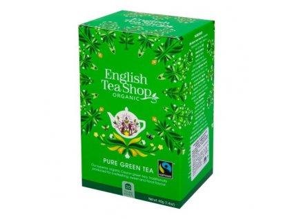 ENGLISH TEA SHOP Čaj Zelený Fair Trade 20 sáčků BIO