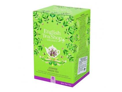 ENGLISH TEA SHOP Čaj Zelený s jasmínem a květem bezu 20 sáčků BIO