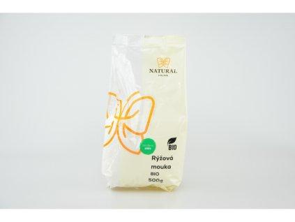 NATURAL JIHLAVA Mouka rýžová hladká BIO 500g