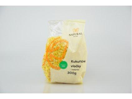 NATURAL JIHLAVA Vločky kukuřičné instantní 300g