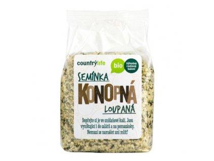 COUNTRY LIFE Konopná semínka loupaná BIO 250 g