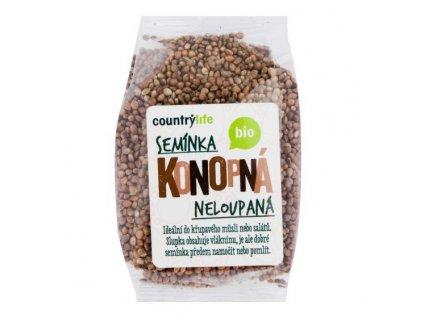 COUNTRY LIFE Konopná semínka neloupaná BIO 250 g