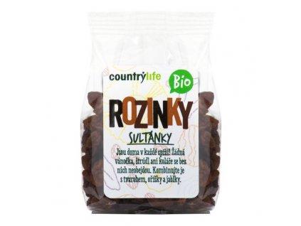 COUNTRY LIFE Rozinky sultánky BIO 100 g