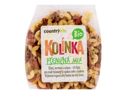 COUNTRY LIFE Těstoviny kolínka pšeničná mix BIO 400 g