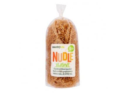 COUNTRY LIFE Těstoviny nudle pšeničné vlasové BIO 200 g