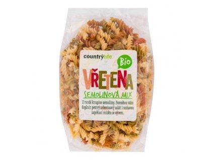COUNTRY LIFE Těstoviny vřetena semolinová mix BIO 400 g