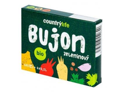 COUNTRY LIFE Bujon zeleninový kostky BIO 66 g