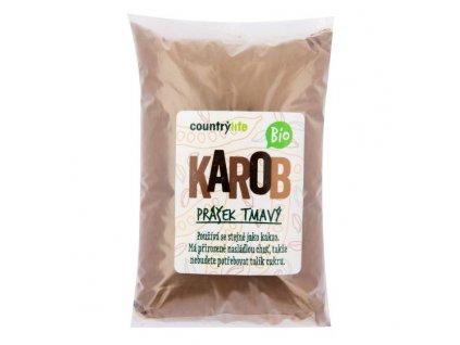 COUNTRY LIFE Karobový prášek tmavý BIO 500 g