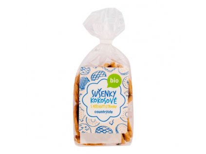 COUNTRY LIFE Sušenky kokosové s příchutí citronu BIO 175 g