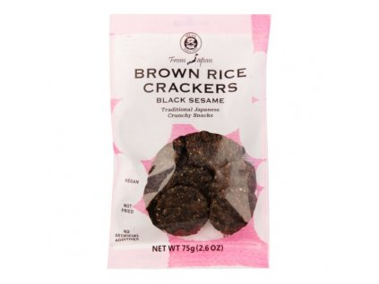 MUSO Crackery celozrnné rýžové s černým sezamem 75 g