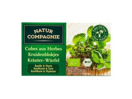 NATUR COMPAGNIE Bujon bylinkový kostky bazalka tymián BIO 80 g