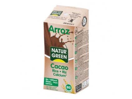 NATURGREEN Nápoj rýžový s kakaem BIO 200 ml
