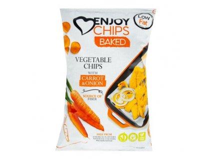 NEW DELESPINE Enjoy Chips pečené s mrkví a cibulí 40 g