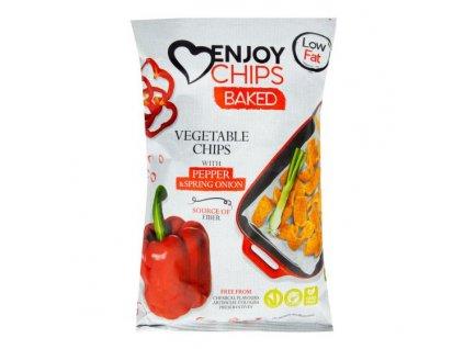 NEW DELESPINE Enjoy Chips pečené s paprikou a jarní cibulkou 40 g