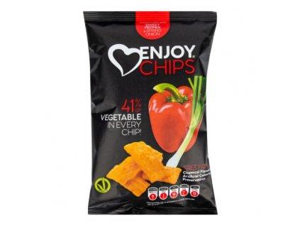 NEW DELESPINE Enjoy Chips s červenou paprikou a jarní cibulkou 40 g