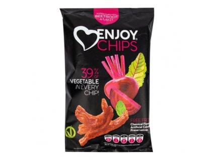 NEW DELESPINE Enjoy Chips s červenou řepou a mátou 40 g
