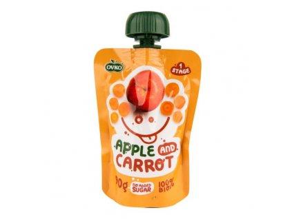 OVKO Příkrm jablko, mrkev BIO 90 g