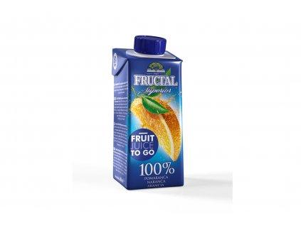FRUCTAL 100% pomerančová šťáva 200 ml