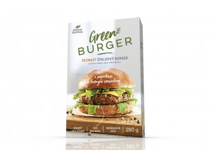 SANUM GUSTUM Bezmasý špaldový burger s paprikou a lněným semínkem 280 g