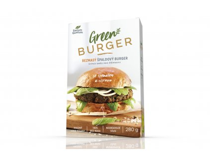 SANUM GUSTUM Bezmasý špaldový burger se špenátem a cizrnou 280 g