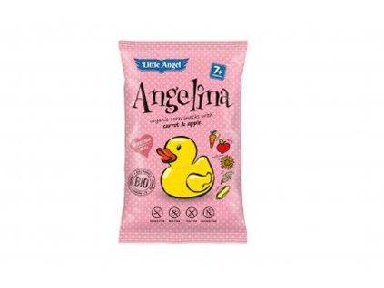 LITTLE ANGEL Kukuřičný snack Angelina s mrkví a jablkem BIO 60 g