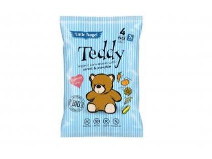 LITTLE ANGEL Kukuřičný snack Teddy s mrkví a dýní BIO 60 g