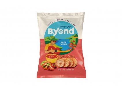 B.YOND Celozrnné rýžové lupínky s příchutí salsa paprika 70 g