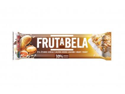 FRUCTAL Frutabela cereální tyčinka s arašídy a jogurtovou polevou 35 g