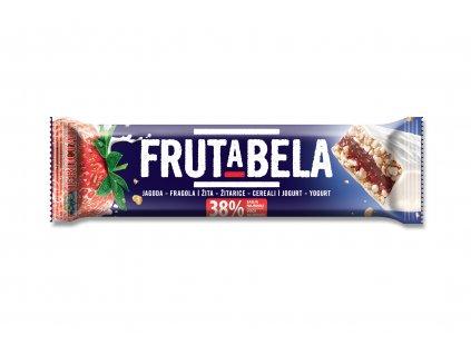 FRUCTAL Frutabela cereální tyčinka s jahodou v jogurtové polevě 30 g